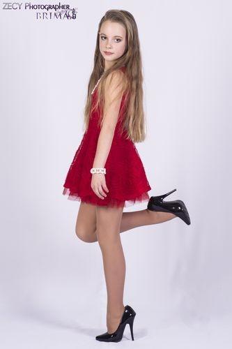 Brima Hina Dark Red Dress set 173